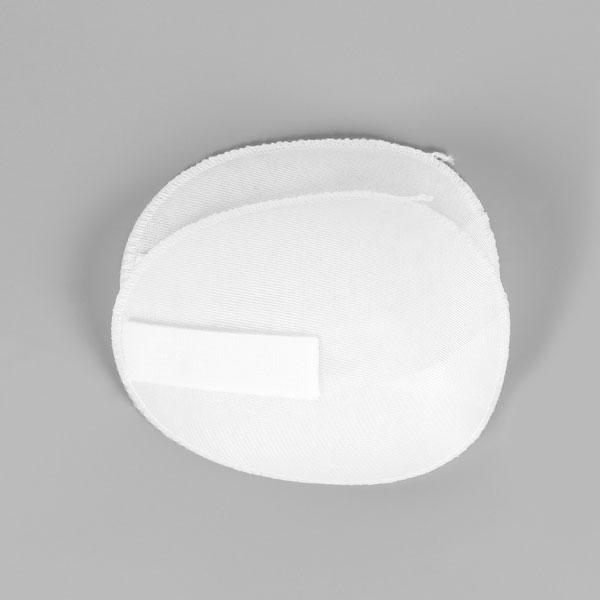 Schulterpolster mit Klett für Raglan Blusen & Kleider [12 x 15 cm] - weiss   YKK
