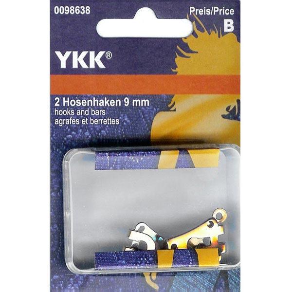Crochets à pantalon 1 – argent | YKK