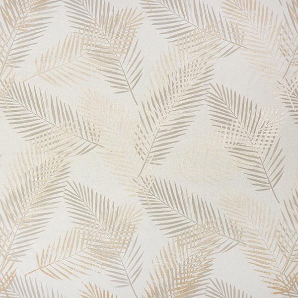 Verdunkelungsstoff Palmwedel Metallic – beige/gold
