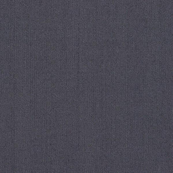 Edler Anzugstoff Seiden-Wollmix Fischgrat – schwarz/marineblau