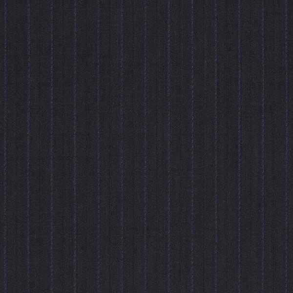 Tissu pour costume 100% laine vierge rayures fines – navy