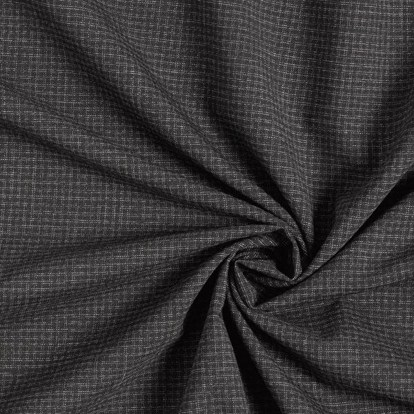 Tissu pour pantalon et costume Mélange laine vierge Carreaux – anthracite