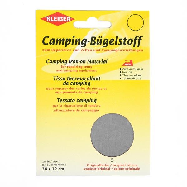 Camping-Bügelstoff – grau
