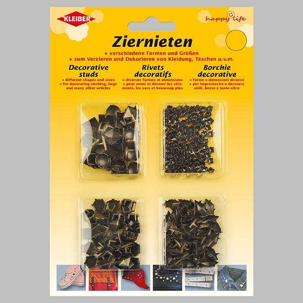 Splintnieten-Mix [230 Stück] 2 – altgold | Kleiber