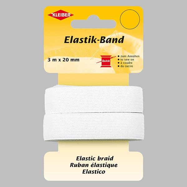 Elastik-Band [3 m] – weiss | Kleiber