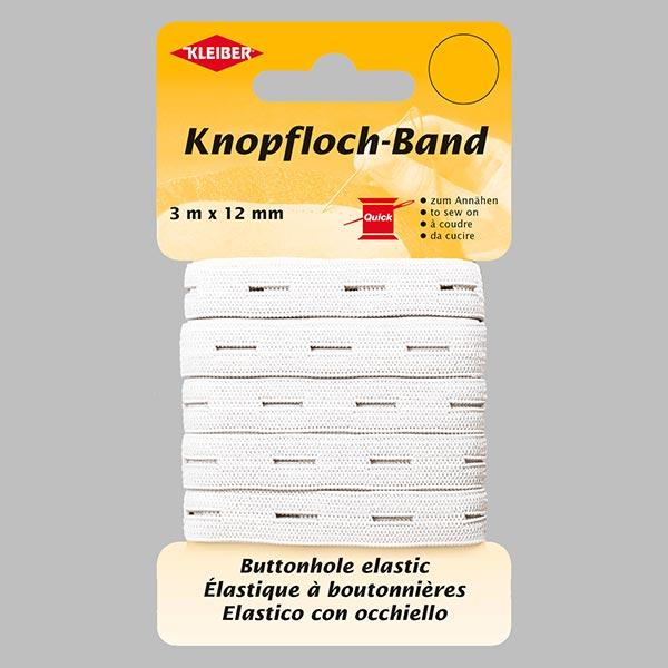 Élastique à boutonnières [3 m] 1 – blanc | Kleiber