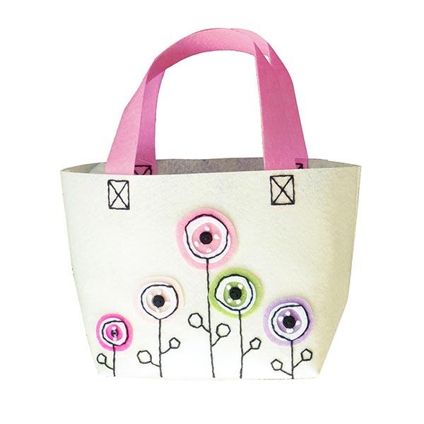 Kit de bricolage - Sac en feutre Fleurs – blanc | Kleiber