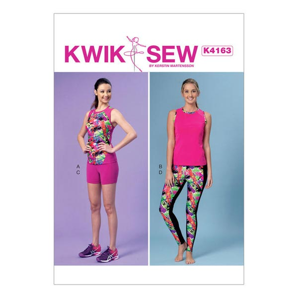 Top / Shorts / Leggings, KwikSew 4163