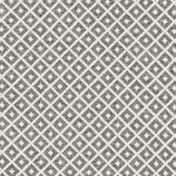Strick Jacquard Recycelt Rauten – grau/weiss