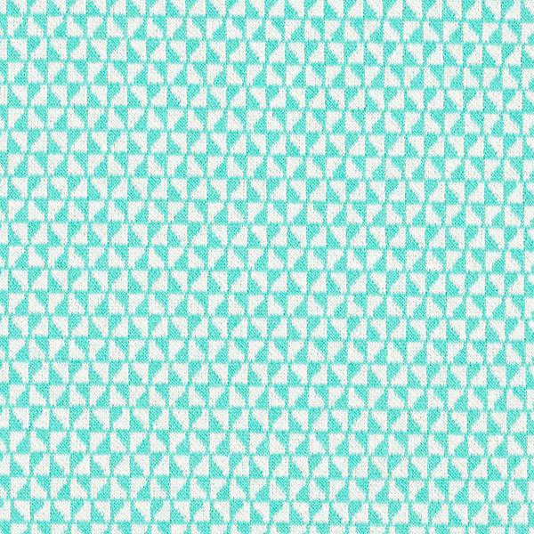 Strick Jacquard Recycelt Dreiecke – mintgrün/weiss