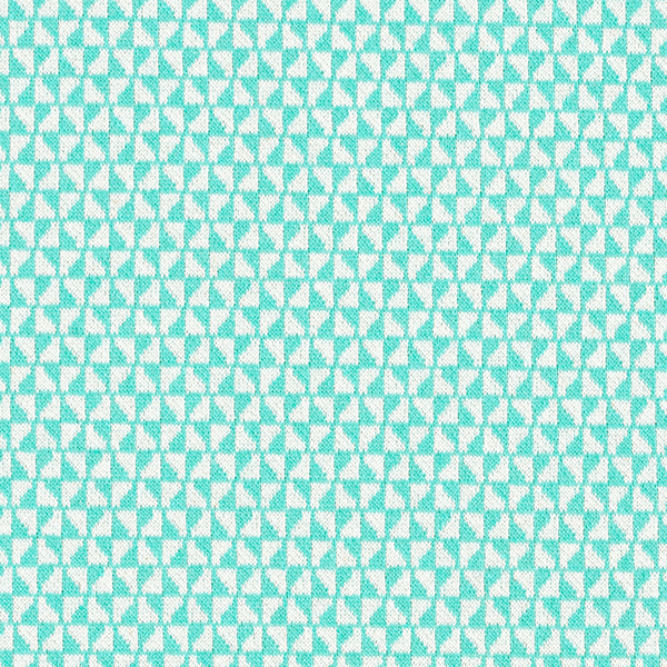 Tricot Jacquard recyclé triangles – vert menthe/blanc