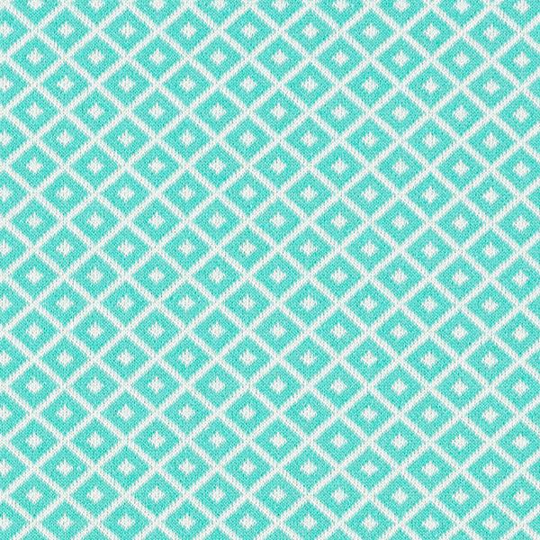 Tricot Jacquard recyclé losanges – vert menthe/blanc
