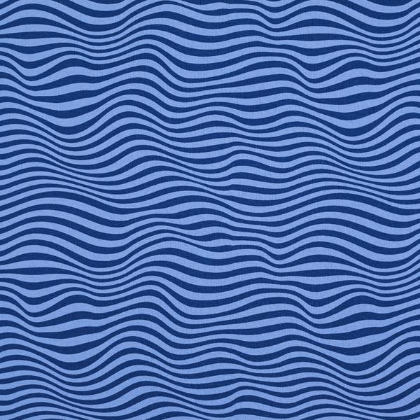 French Terry Ondes – bleu jean/bleu marine