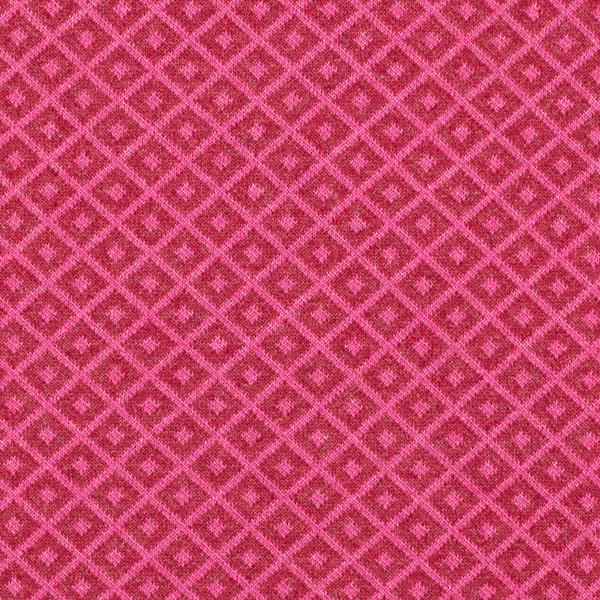 Jersey jacquard en mélange coton recyclé Losanges – rose vif