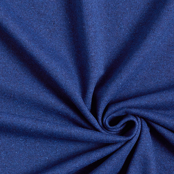 Jersey jacquard en mélange coton recyclé Chiné – bleu marine