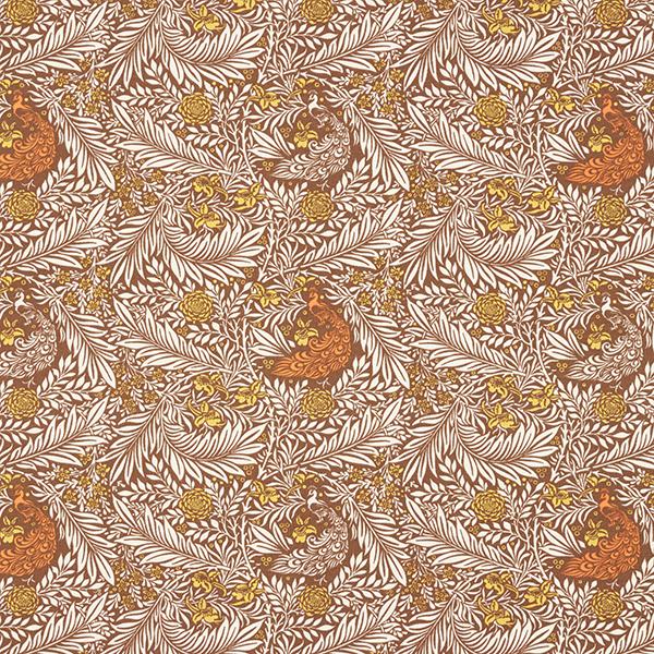 Jersey coton mer de feuilles – marron