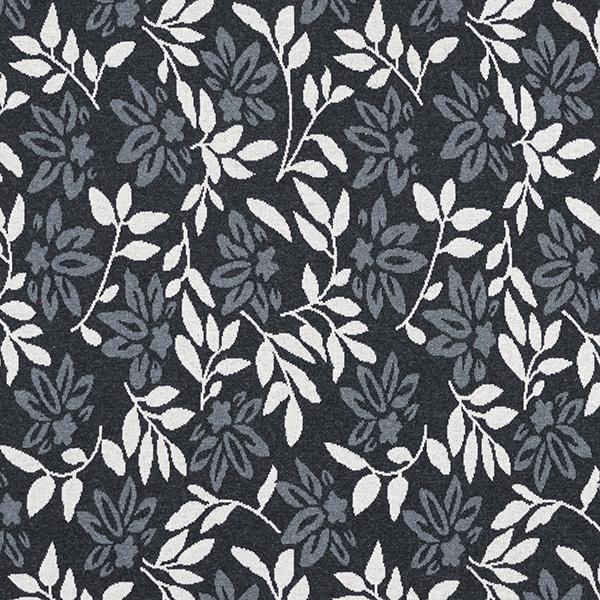 Strick Jacquard Recycelt Blumen & Blätter – anthrazit