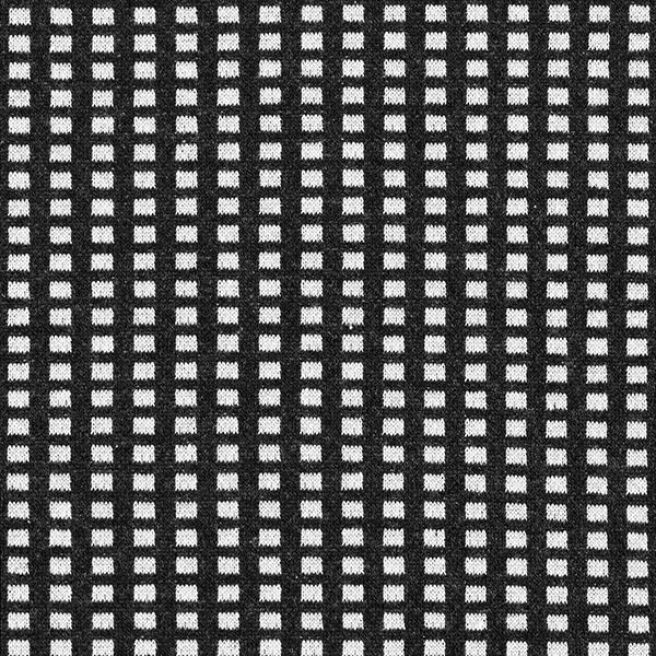 Tricot Jacquard recyclé petits rectangles – noir/blanc
