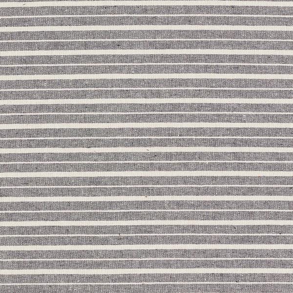 Tissu pour chemise et chemisier en mélange coton recyclé Rayures – nature/noir