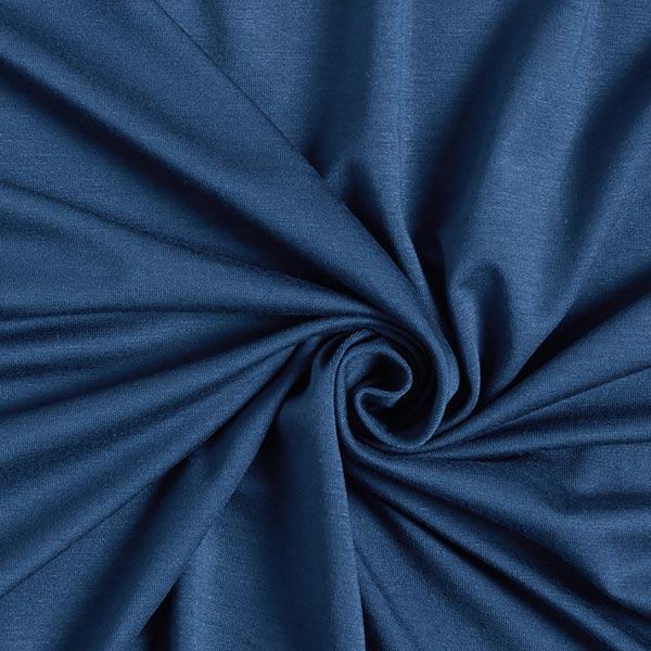 Jersey en viscose de bambou Uni – bleu marine