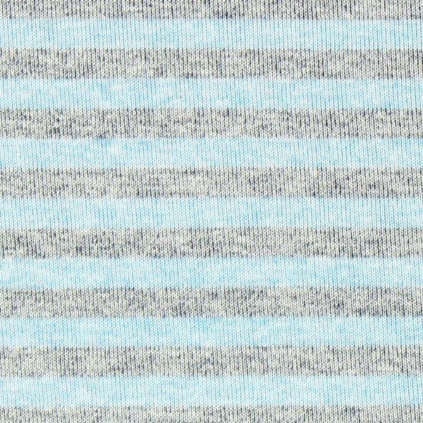 Jersey Bambou Rayures Chiné – gris/bleu clair