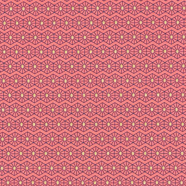 Jersey coton Losanges scintillants – corail