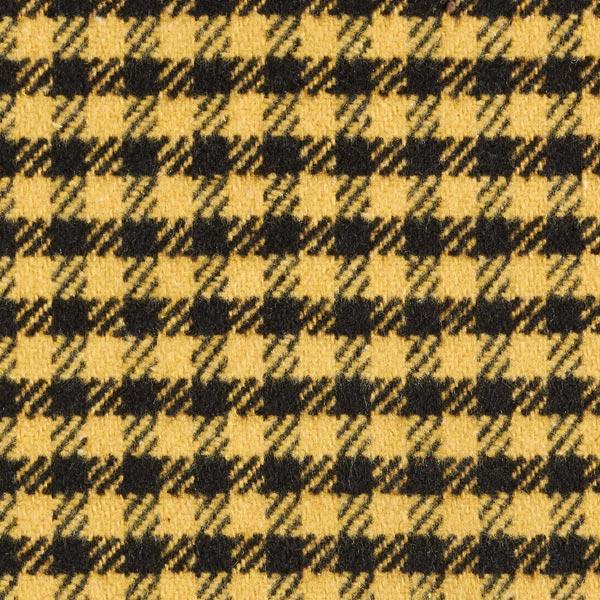 Tissu pour manteau petits carreaux – curry/noir