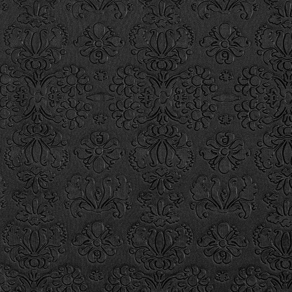 Scuba Ornements floraux en relief – noir