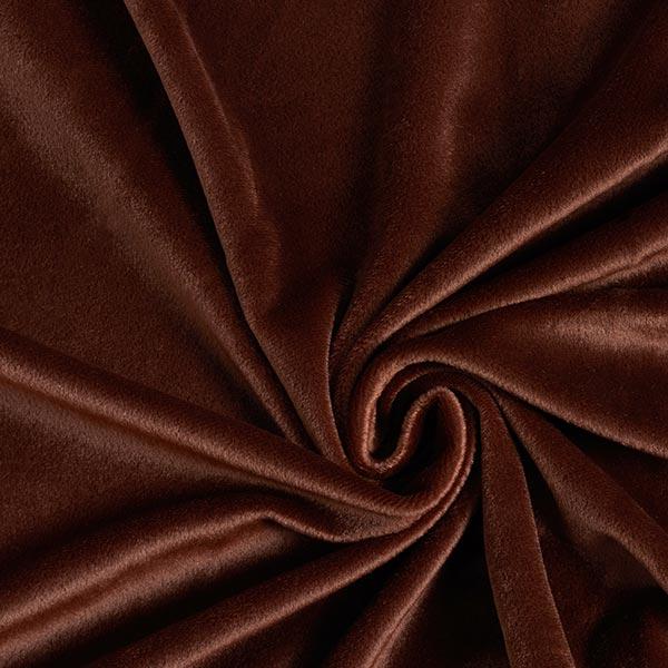 Kunstfell Kurzflor Uni – schokolade