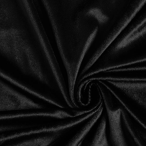 Fourrure synthétique poil ras Uni – noir