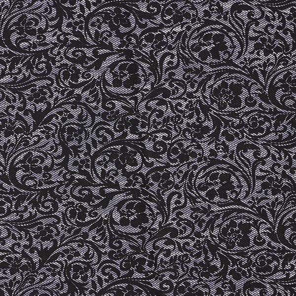 Strickjacquard Ranken – schwarz/blau
