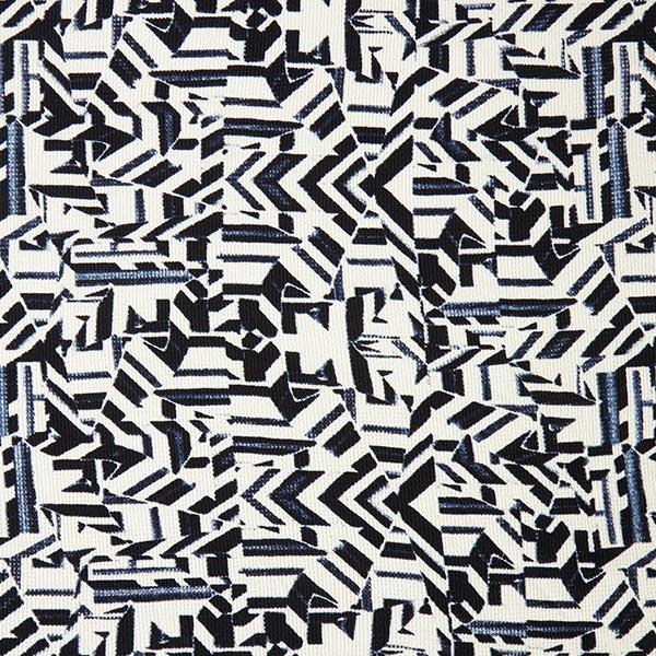 Maille côtelée Motif géométrique – noir/écru