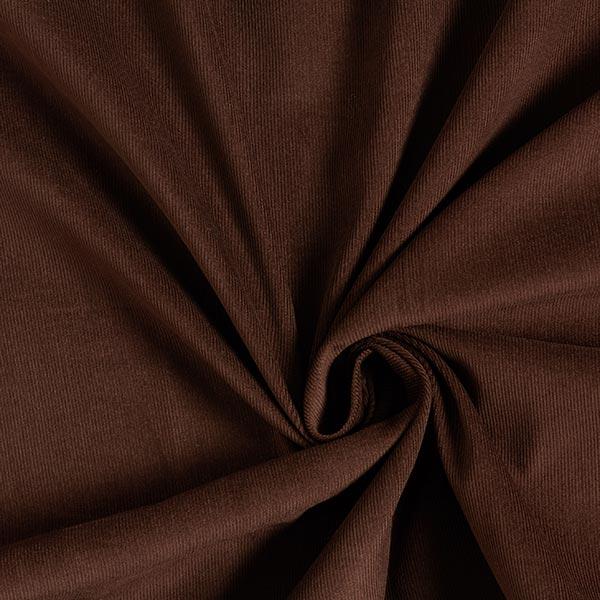 Velours milleraies coton Uni – chocolat