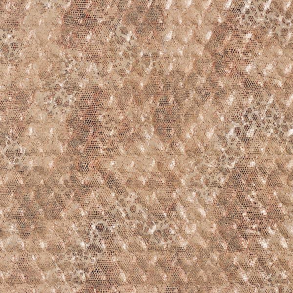 Steppstoff Wildlederimitat Glitzer-Schlangenprint – beige