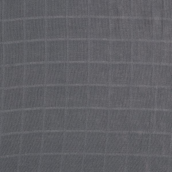 Musselin/ Doppel-Krinkel Gewebe Heißer Sommer – schiefergrau