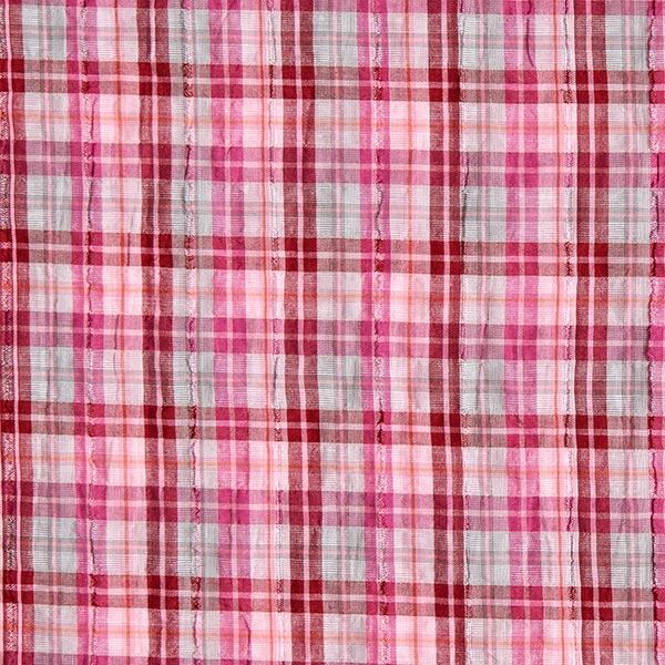 Tissu de chemise Crinkle Carreaux – rose vif