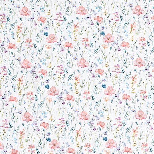 Dekostoff Baumwollpopeline Wiesenblumen