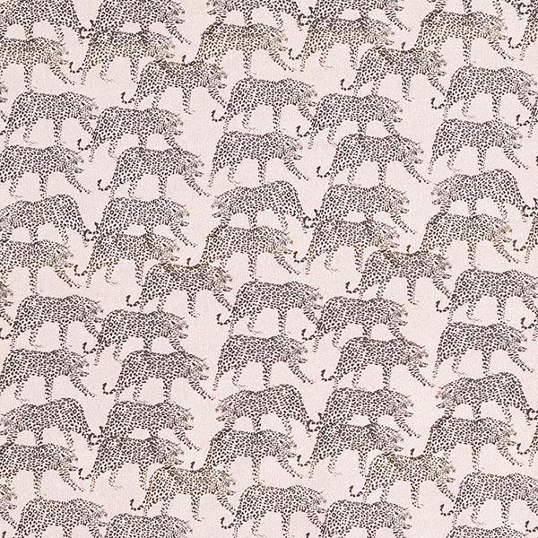 Tissu de décoration Popeline coton Léopards – vieux rose