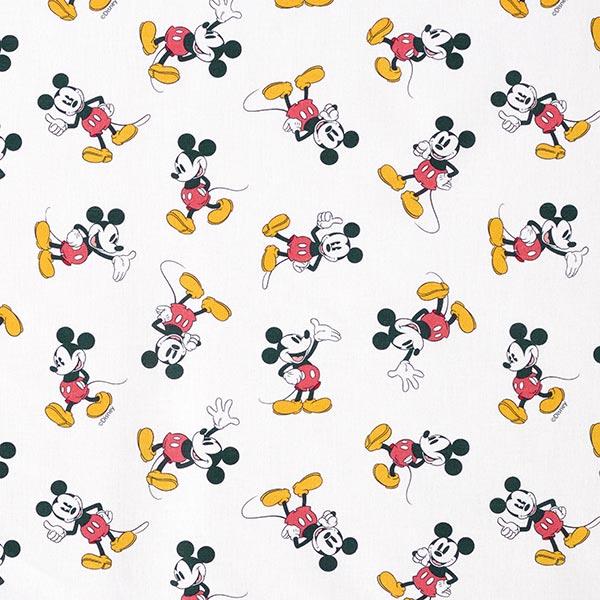 Baumwollpopeline Mickey Mouse Klassisch  | Disney – weiss
