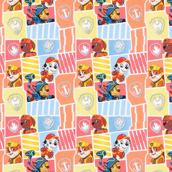 Cretonne Tissu sous licence Mosaïque de motifs La Pat'Patrouille | Viacom – blanc