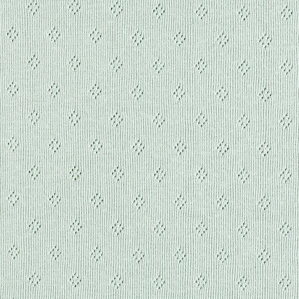 Jersey finement tricoté à motif ajouré – vert menthe