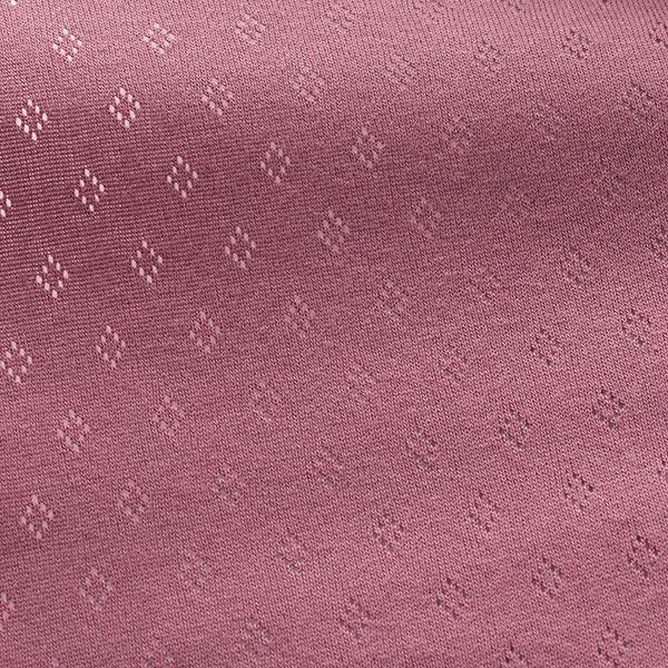 Jersey finement tricoté à motif ajouré – violet pastel