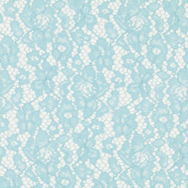 Dentelle stretch Camelia – bleu clair
