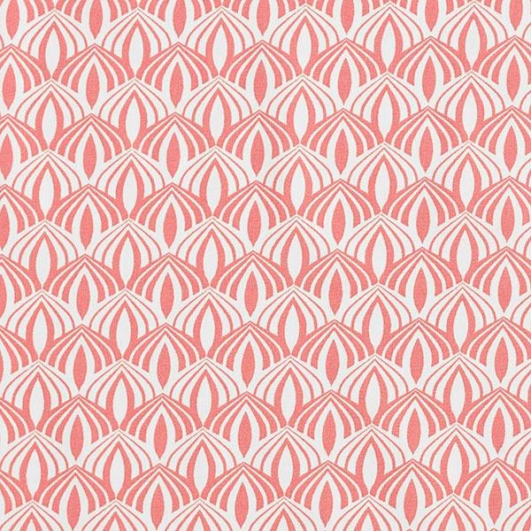 Popeline coton Arcs rétro – homard/blanc