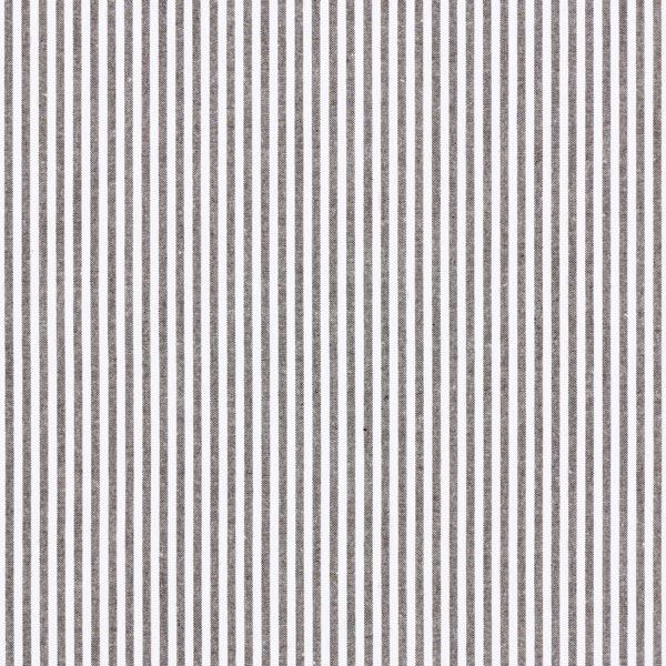 Popeline coton Rayures, teints en fil – noir/blanc
