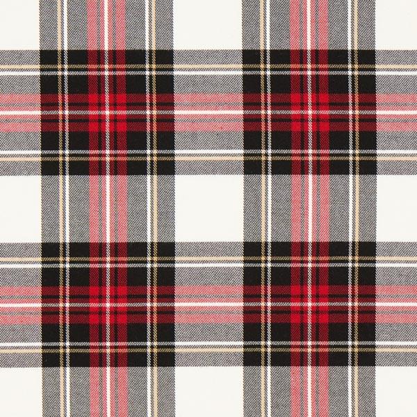 Carreau écossais Stretch – écru/rouge