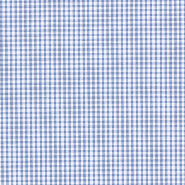 Popeline coton Petit carreaux Vichy, teints en fil – bleu jean/blanc