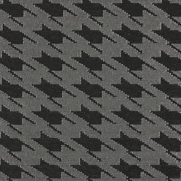 Tissu de décoration Pied-de-poule – argent