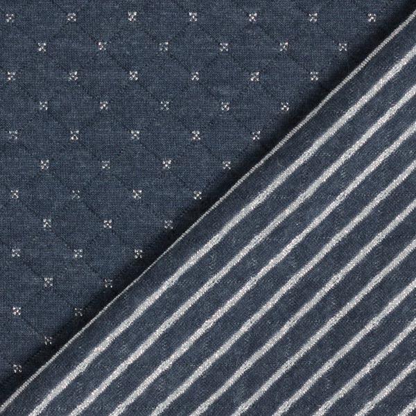 Jersey matelassé double face avec croix pailletées et rayures – bleu marine