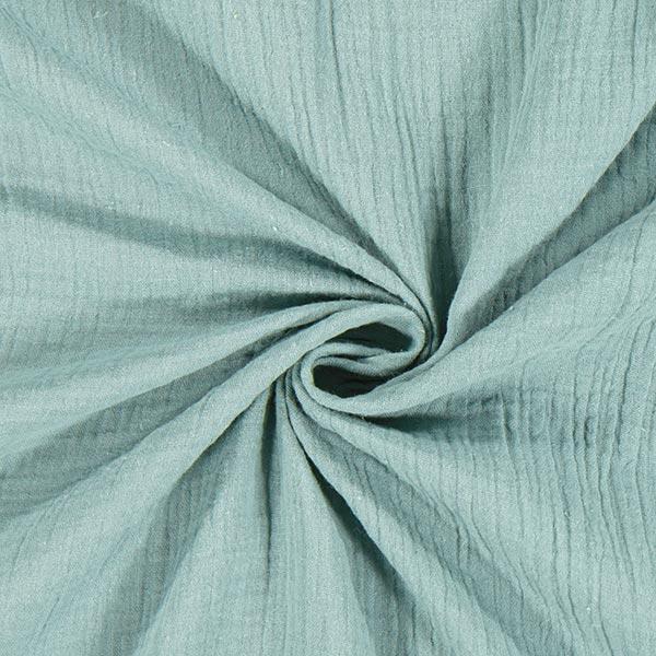 Musselin/ Doppel-Krinkel Gewebe    by Poppy – grün